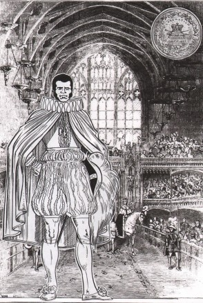 Bill Richmond at the coronation of George IV, art by Trevor Von Eeden
