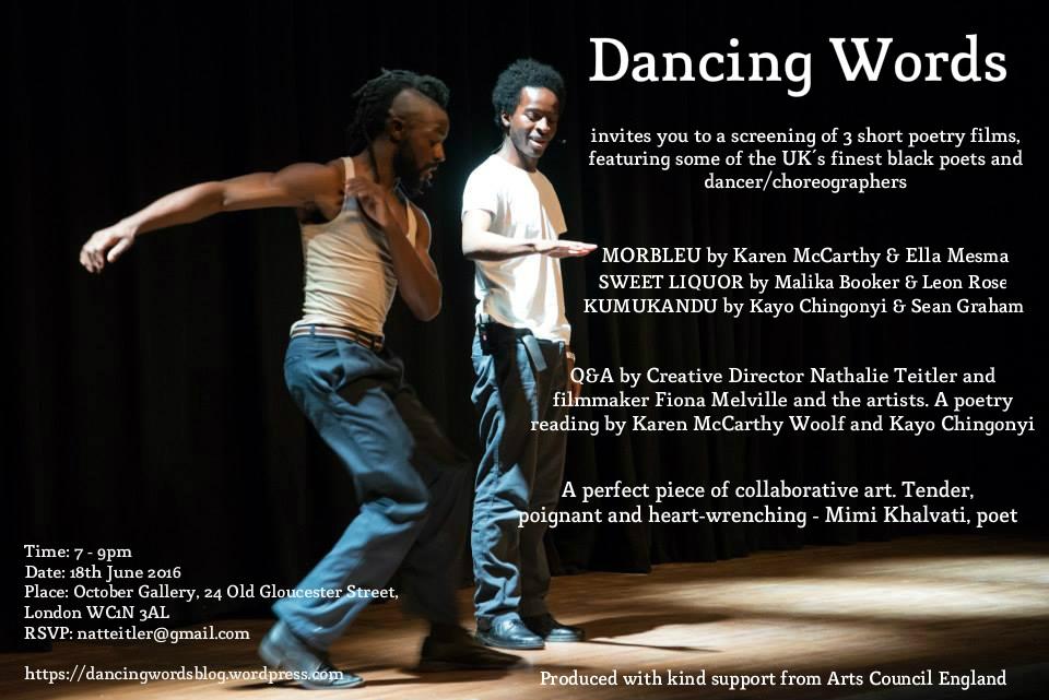 Dancing Words Poetry Films Black History Month 2018
