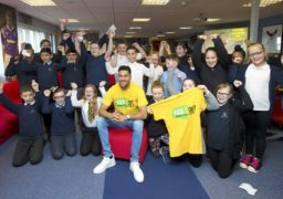 Rangers goal keeper Wes Foderingham took up his role as one of Kick It Out's 'Next 20' ambassadors as he took time out to deliver an anti-discrimination workshop to local schoolchildren from Ibrox Primary. He was joined at the event by Paul Mortimer, Kick It Out's professional engagement manager.