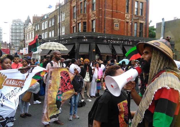 Reparations March 2016 Bro Asheber With Megaphone by Kwaku