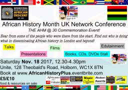 African History Month UK Network Conference flyer