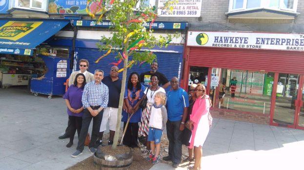 Reggae Tree with Cllr Butt Dawn MP etc x