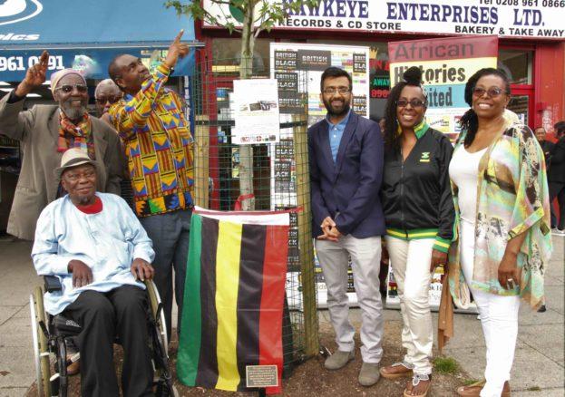Reggae Tree plaque unveiling