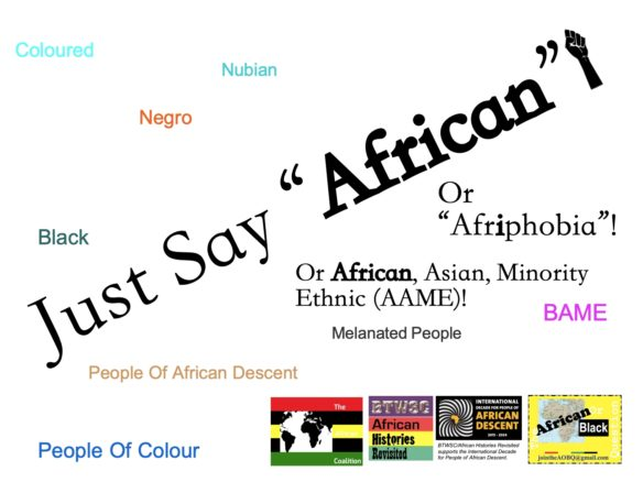 JustSayAfrican